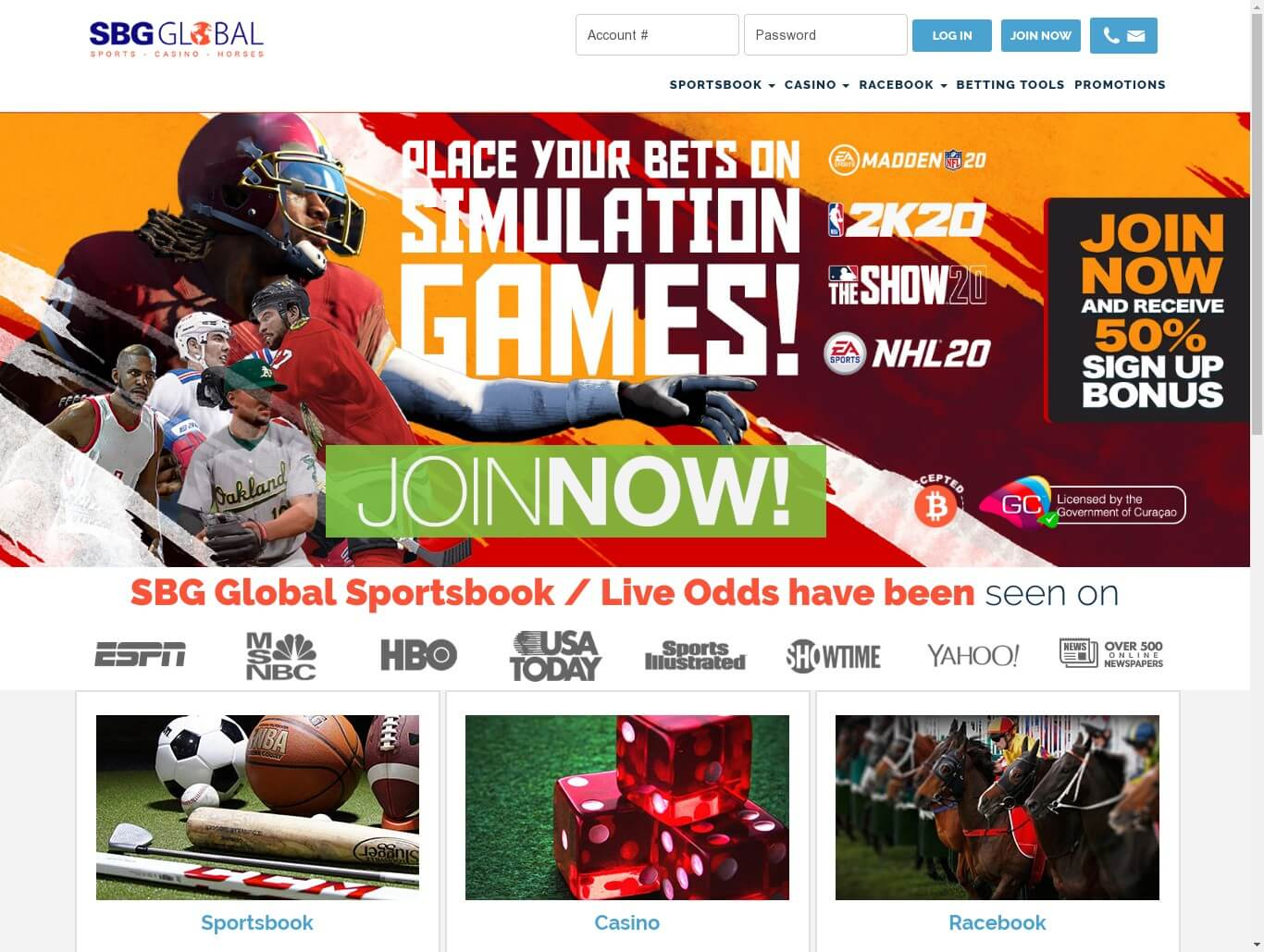 Bet on Sports, Sports Gambling _ Sportsbook _ Horse Betting at SBG Global