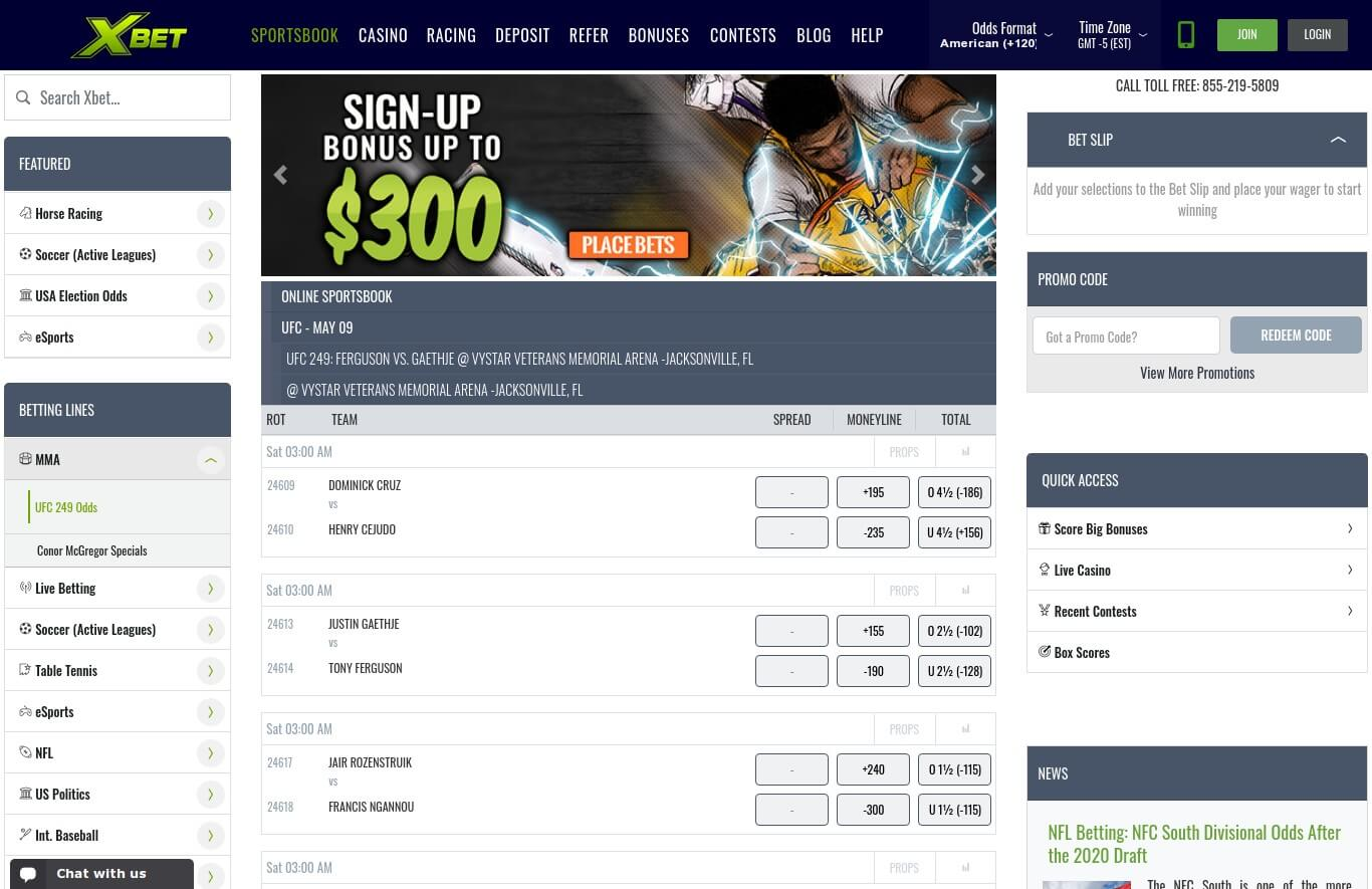 XBet Sportsbook Betting Review