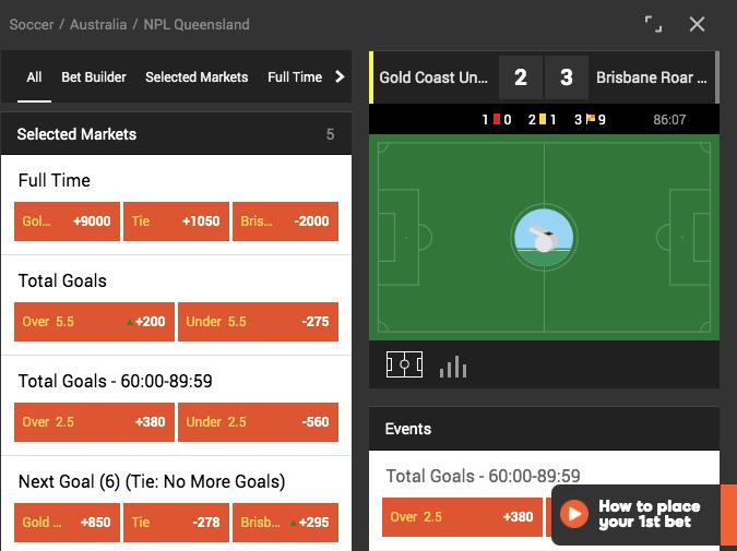 Live betting 888sport
