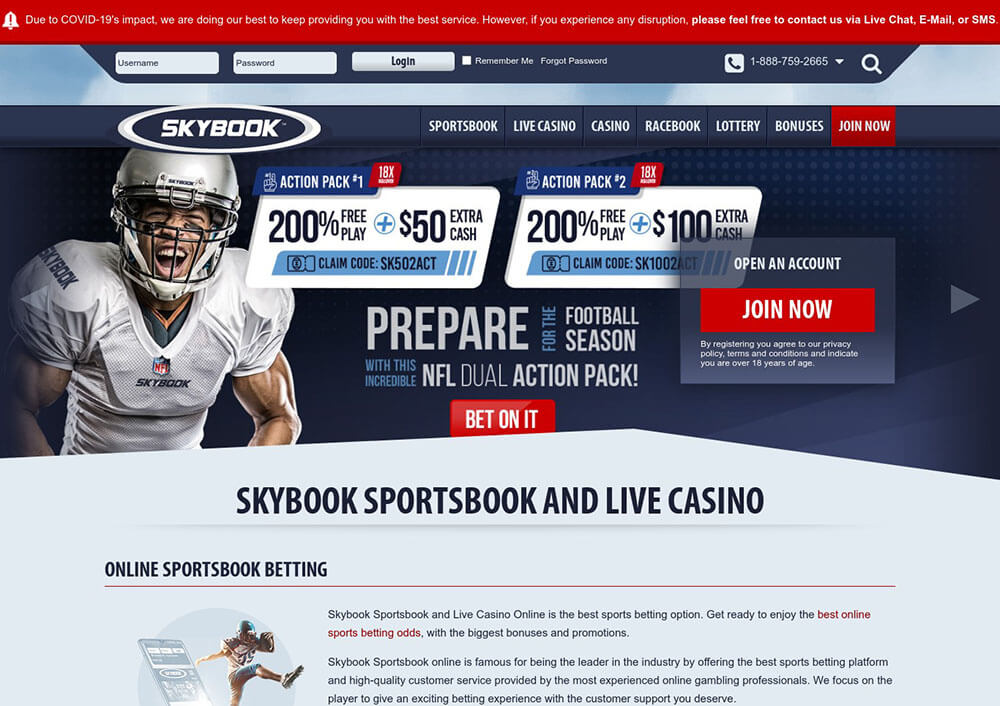 Skybook Sportsbook, Sports Betting, Racebook, Online Casino, Live Casino