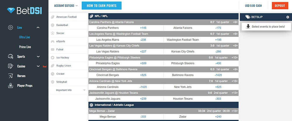 sports betting betdsi